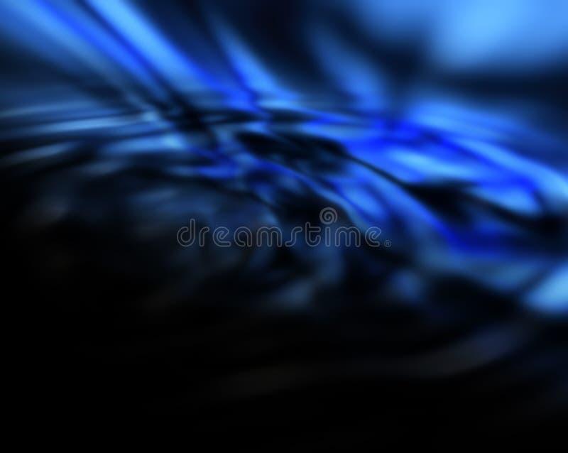 Obscuridade da abstracção - fundo azul ilustração royalty free