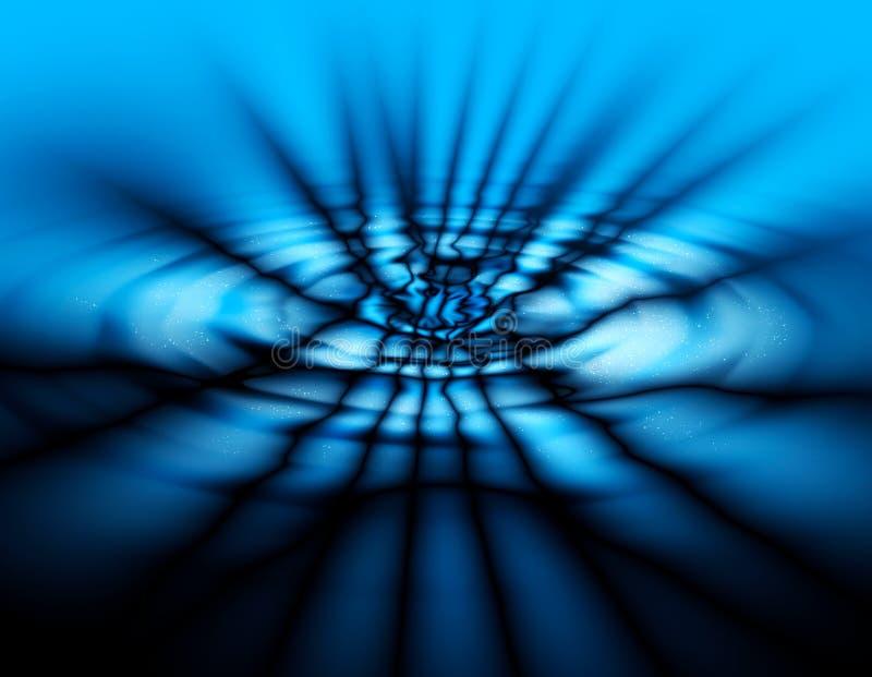 Obscuridade da abstracção - fundo azul ilustração do vetor