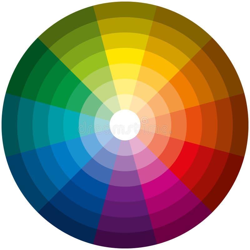 Obscuridade da luz do círculo de cor ilustração royalty free