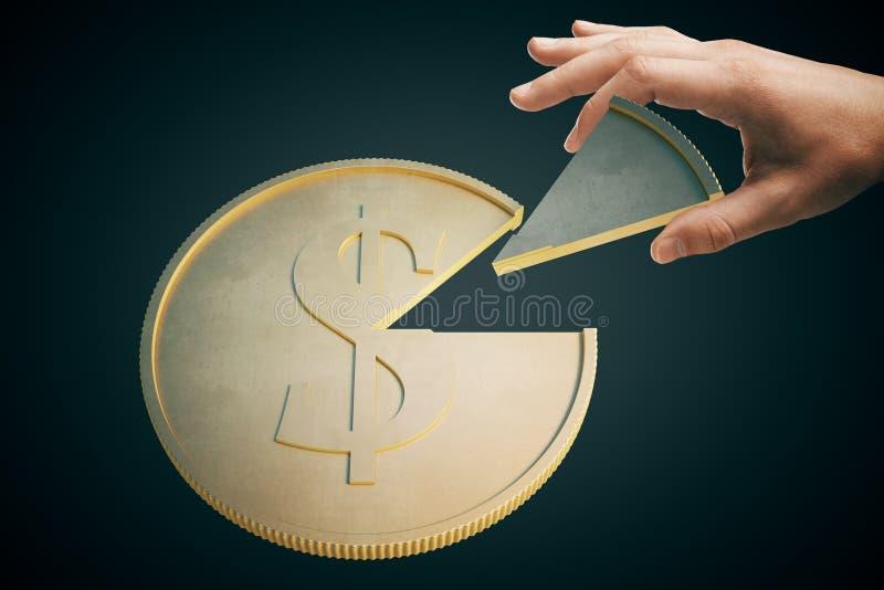 Obscuridade da moeda do dólar foto de stock