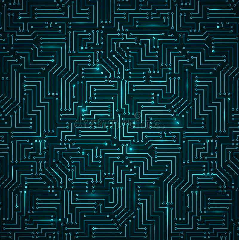 Obscuridade de brilho futurista - tecnologia azul Backgorund ilustração do vetor
