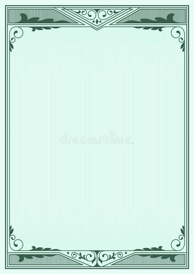 Obscuridade decorativa - estrutura verde no fundo ilustração do vetor