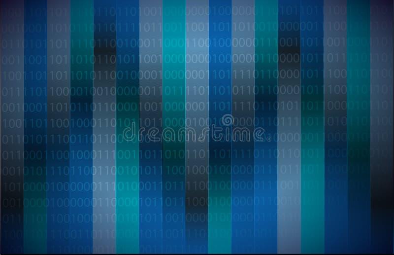 Obscuridade do código binário - azul