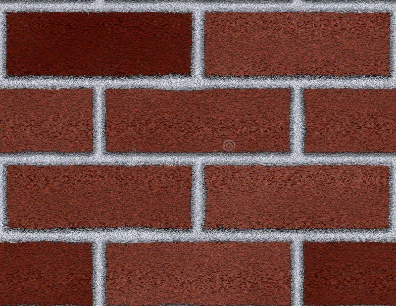 Obscuridade do fundo sem emenda da parede de tijolo grande - vermelho ilustração royalty free