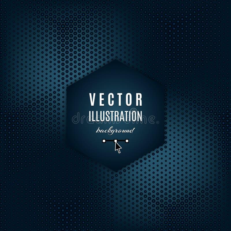 Obscuridade do vetor - fundo do sumário do cinza azul Cartaz futurista geométrico com efeitos da luz Lugar para o texto, projeto  ilustração royalty free