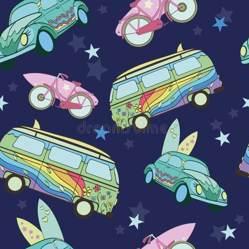 Obscuridade do vetor - prancha azuis em carros do transporte ilustração royalty free