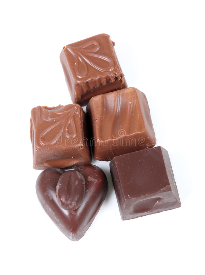 Obscuridade e chocolate de leite imagem de stock royalty free
