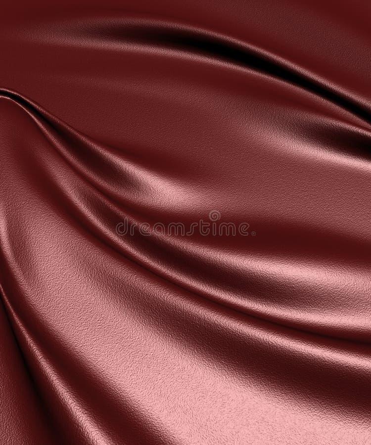 Obscuridade elegante - fundo de couro vermelho de pano imagens de stock royalty free