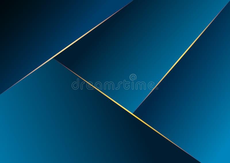 Obscuridade geom?trica abstrata - fundo azul Vetor ilustração stock