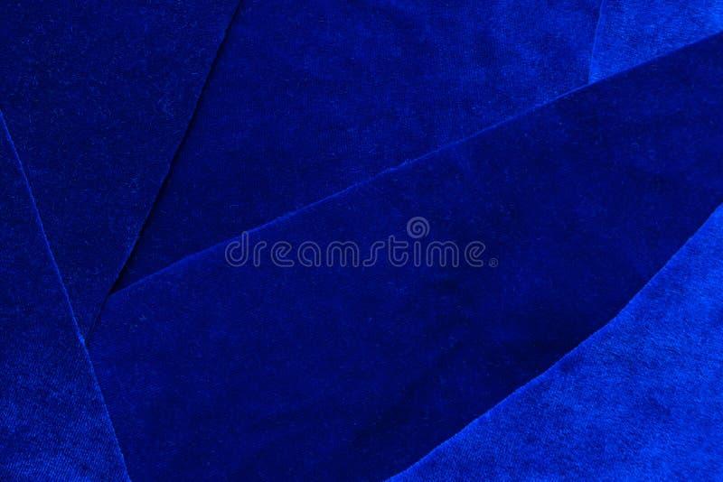 Obscuridade luxuosa bonita - fundo azul c da textura de veludo dos retalhos fotos de stock