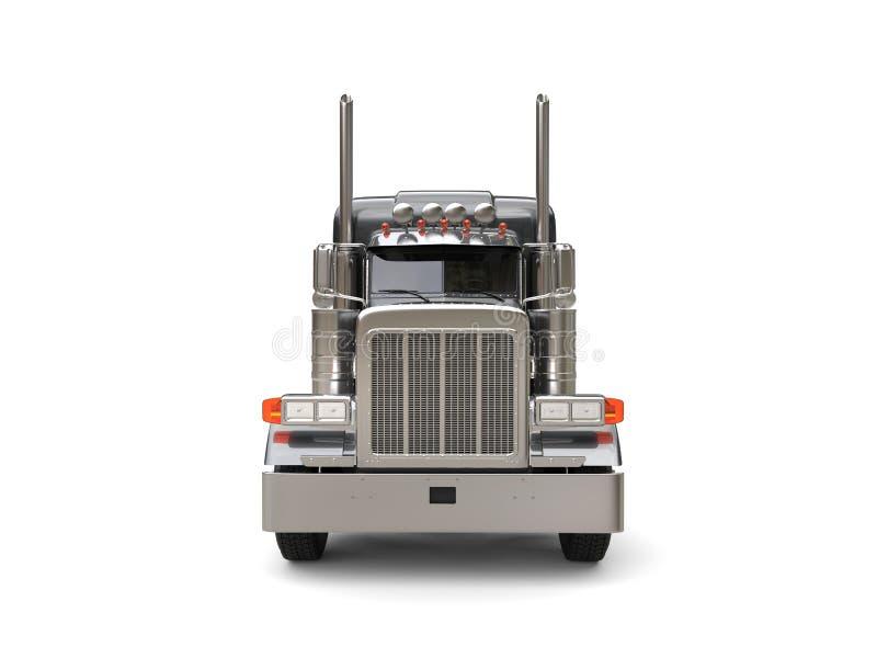 Obscuridade resistente - caminhão grande cinzento - vista dianteira ilustração do vetor