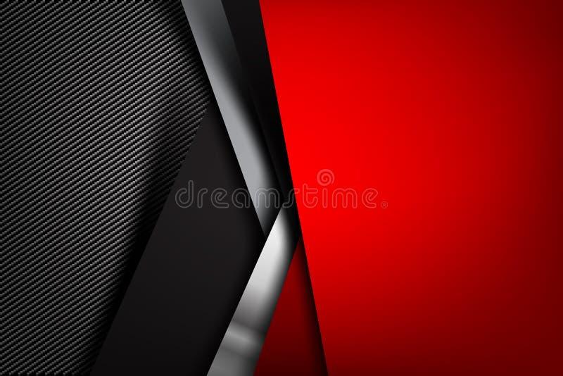 Obscurité abstraite de fond avec l'illust de vecteur de texture de fibre de carbone illustration libre de droits