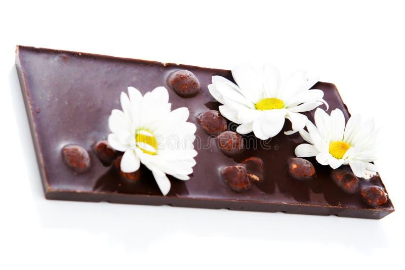 obscurité de chocolat de bar images libres de droits