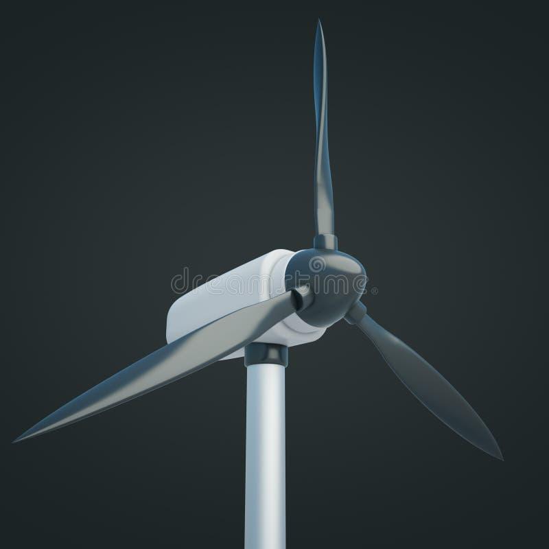 Obscurité de plan rapproché de générateur de vent illustration libre de droits