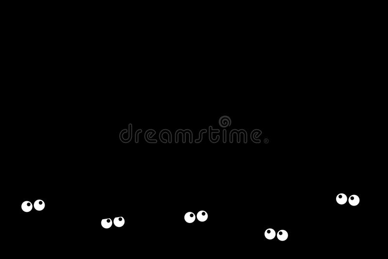 Obscurité effrayée illustration de vecteur