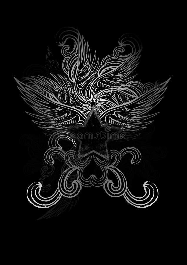 Obscurité façonnée illustration stock