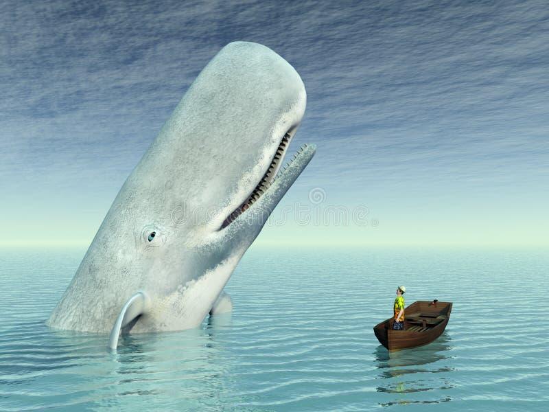 Observação da baleia ilustração stock