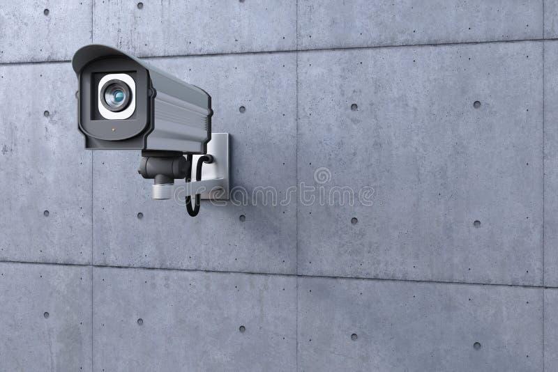Observação da câmara de segurança ilustração stock
