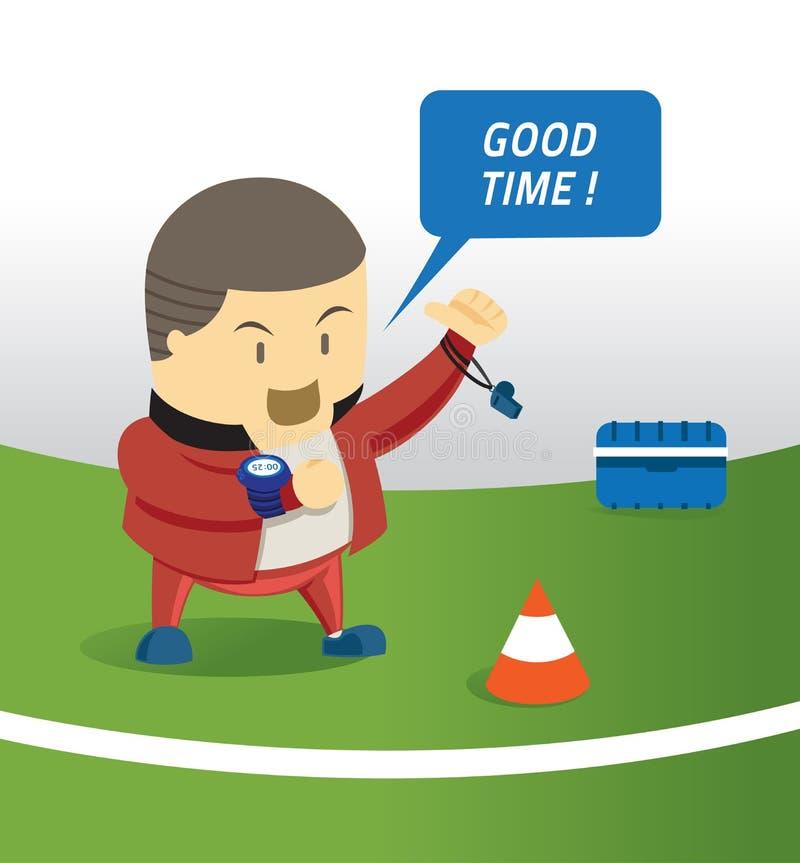 Observação do tempo do treinador ilustração stock