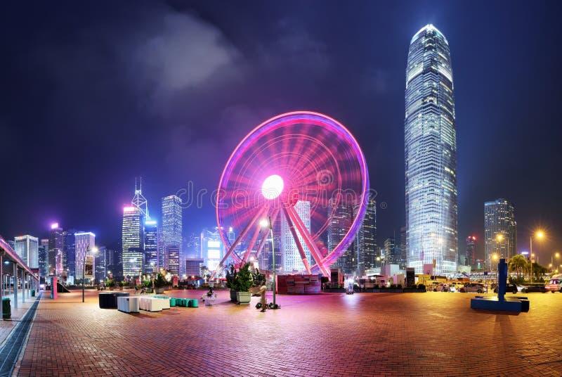 Observação Roda, Hong Kong fotos de stock