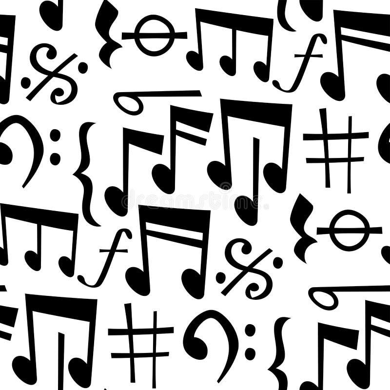 Observa el texto sano de la melodía de los símbolos del músico del colorfull de la melodía de la música que escribe a sinfonía au stock de ilustración