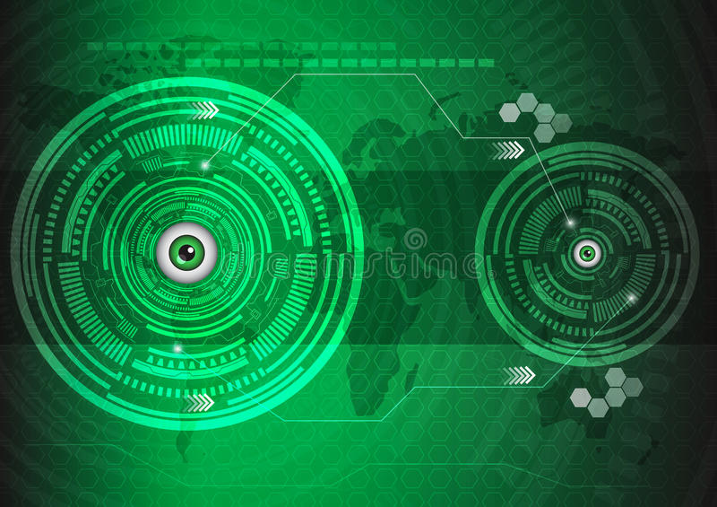 Observa tecnología stock de ilustración