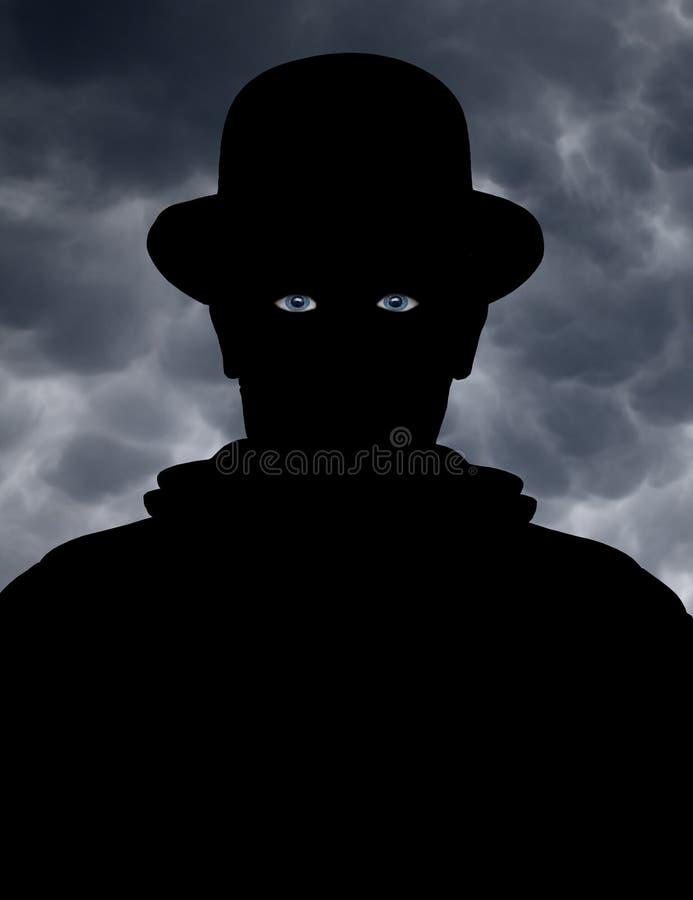 Observador misterioso fotografía de archivo