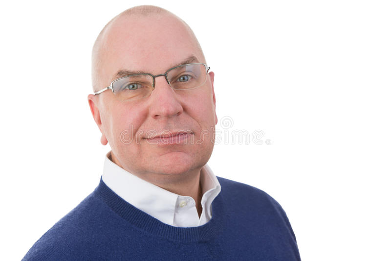 Observant Middle-aged Businessman Stock Photography