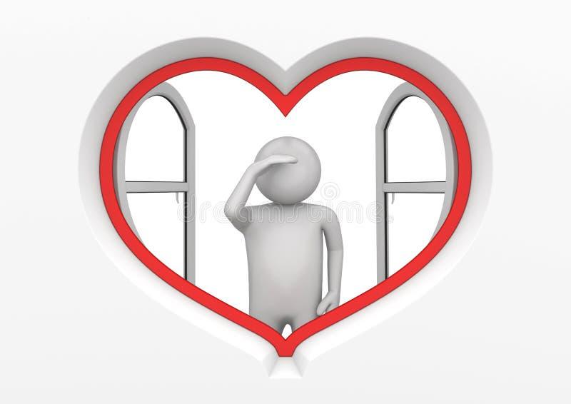 Observateur 1 d'hublot de coeur image libre de droits