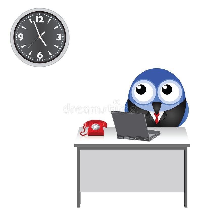 Observation d'horloge d'ouvrier illustration libre de droits