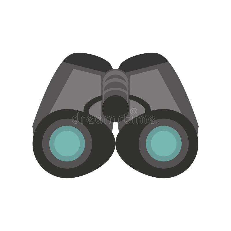Observation de regard d'explorateur de jumelles illustration libre de droits