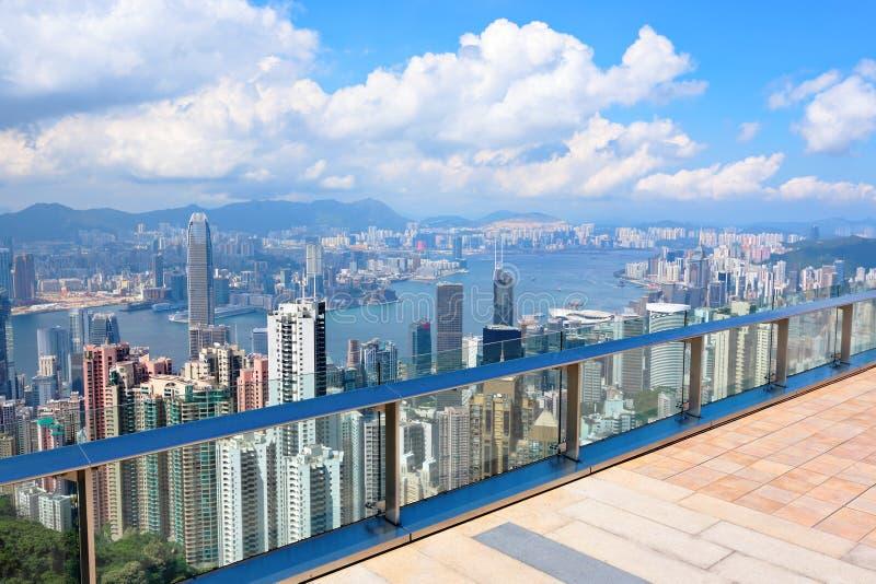 Observation deck at Hong Kong. Peak royalty free stock photos