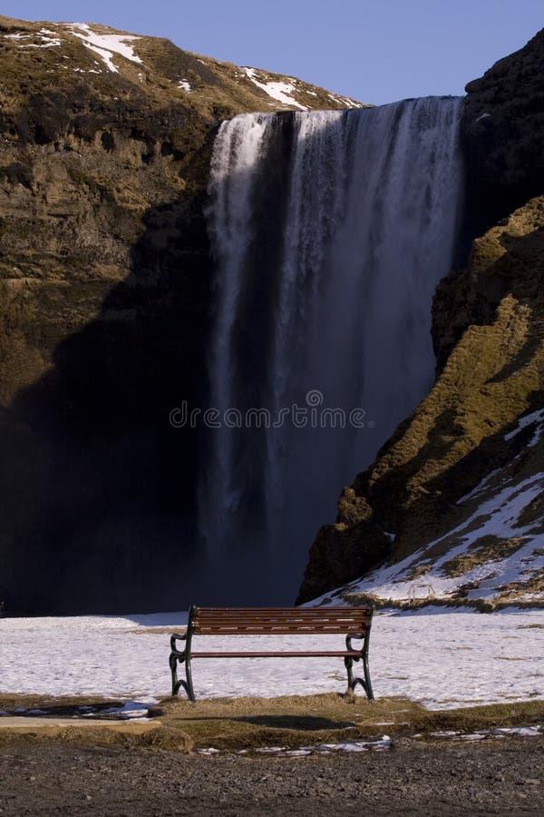 Observation des cascades image libre de droits