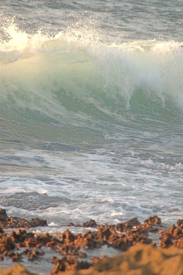 Observation des vagues d'une distance photo libre de droits