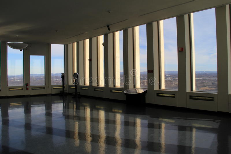 Observation floor in The Corning Tower, Albany, New York, 2016 royalty free stock photo