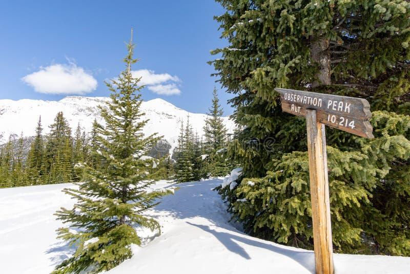 Observation Peak Sign royalty free stock images