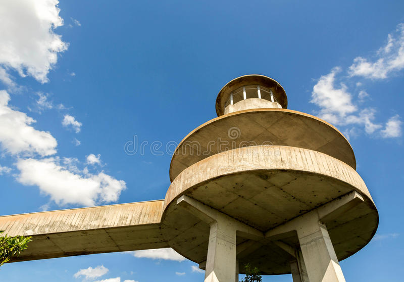Observation Tower, Everglades National Park. An observation tower at Shark Valley, Everglades National Park stock photos