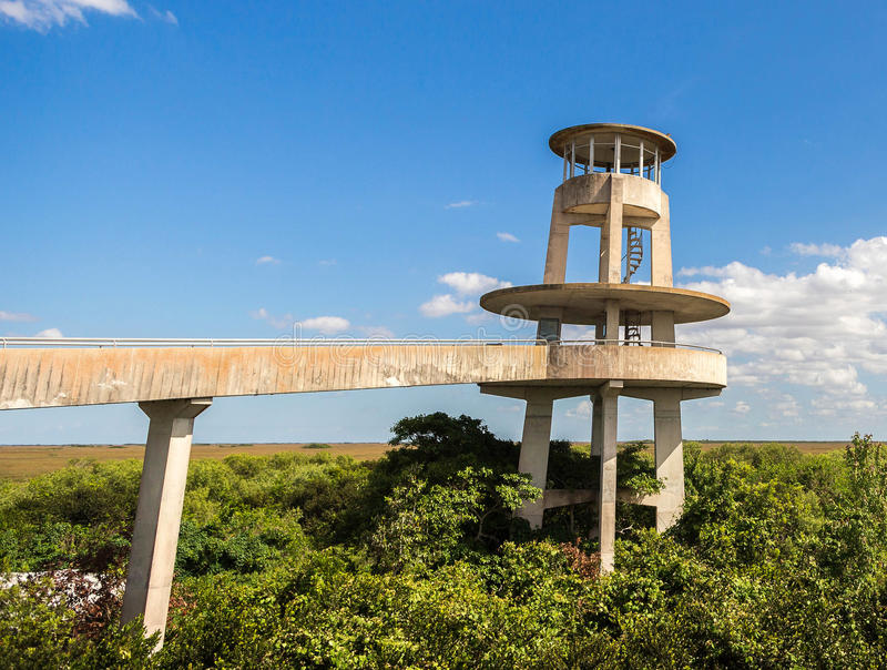 Observation Tower, Everglades National Park. The observation tower at Shark Valley, Everglades National Park, Florida royalty free stock image
