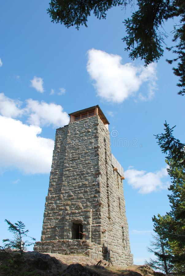 Observation Tower on Mount Constitution royalty free stock photos