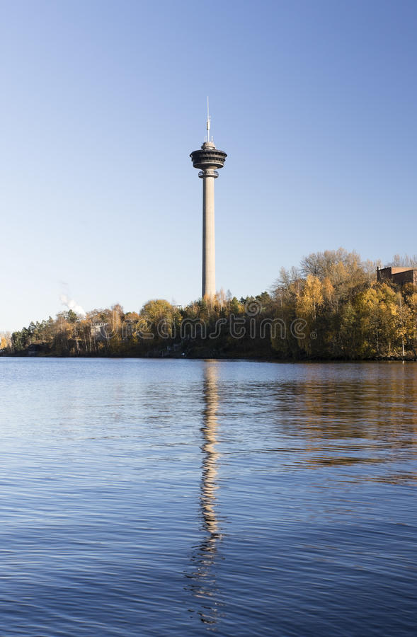 Observation tower Nasinneula from Tampere, Finland. stock image