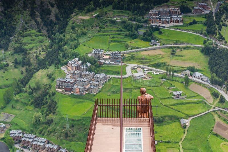 Observationsdäck Roc Del Quer, Andorra arkivbilder