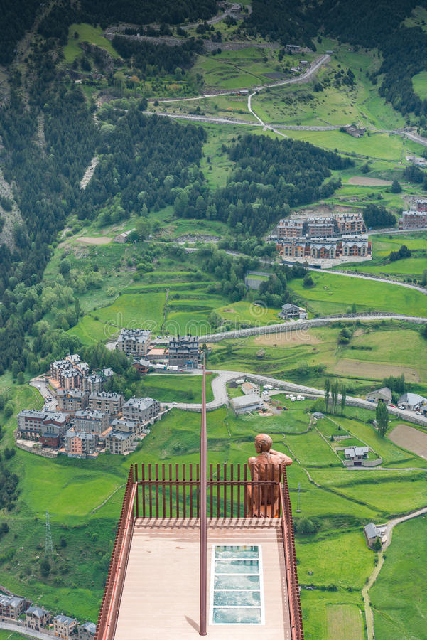 Observationsdäck Roc Del Quer, Andorra royaltyfria bilder