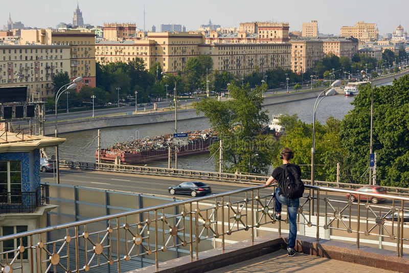 Observationspunkt nära förlägger högkvarter av rysk akademi av Scienc arkivfoton