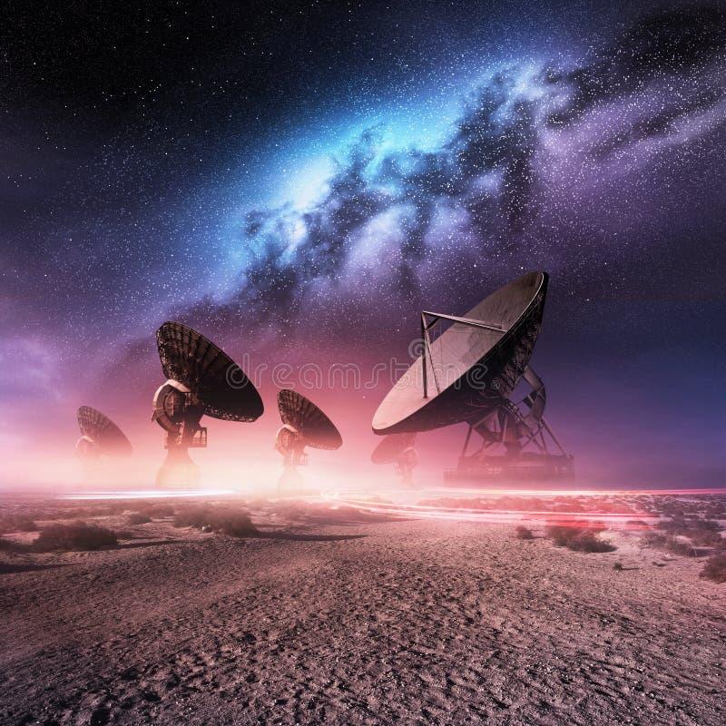 Observatoire d'univers illustration libre de droits