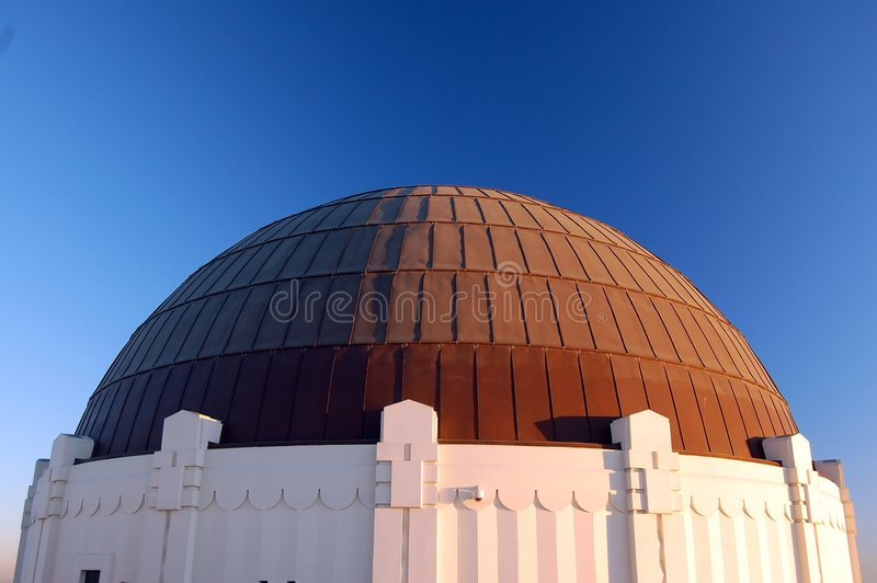 Observatoire de Griffith, Bui principal image libre de droits