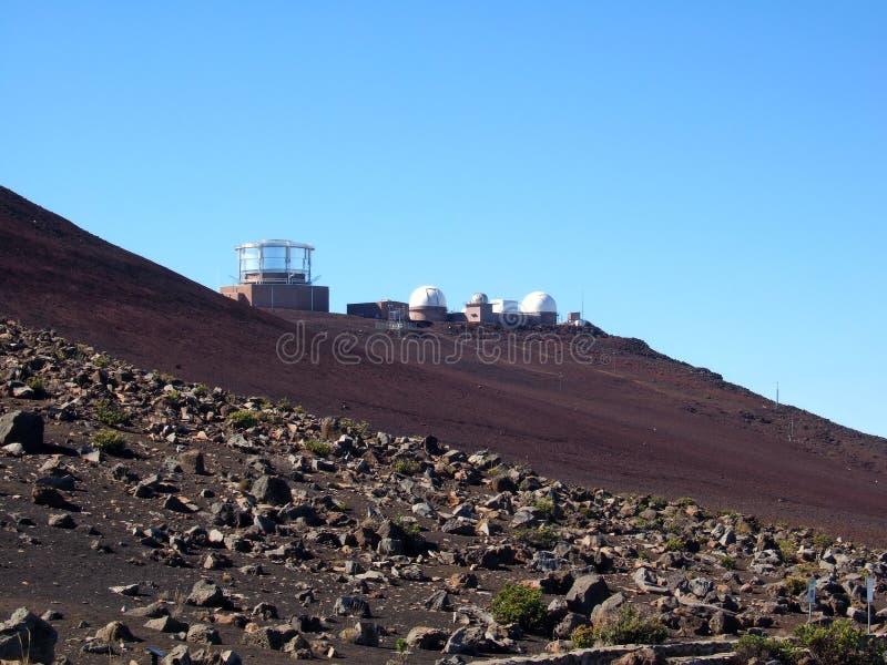 Observatoire de Haleakala image libre de droits