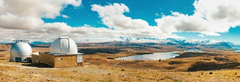 Observatoire de John de bâti au lac Tekapo images stock