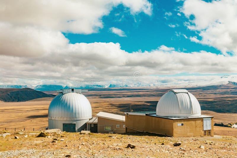 Observatoire de John de bâti au lac Tekapo images libres de droits