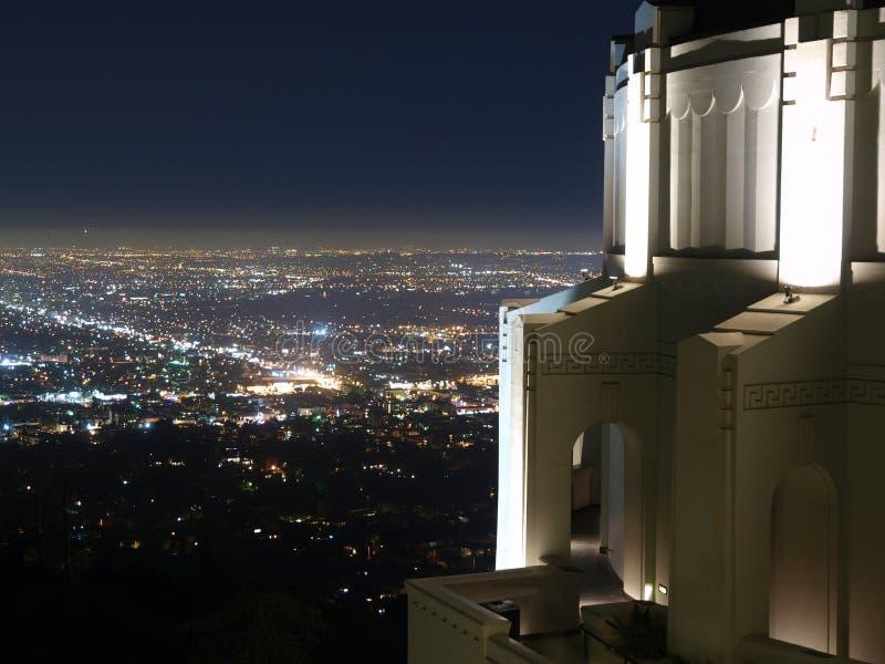 Observatoire de stationnement de Griffith photographie stock libre de droits