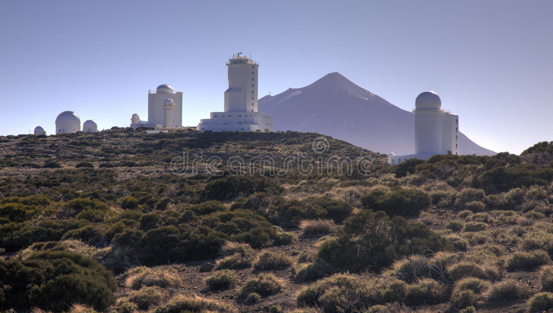 Observatoire de Teide photos stock
